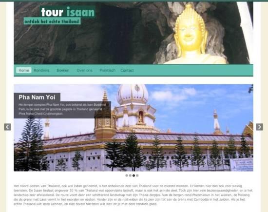 Beginpagina van de website tour-isaan.nl